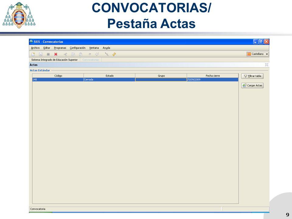 CONVOCATORIAS/ Pestaña Actas 9