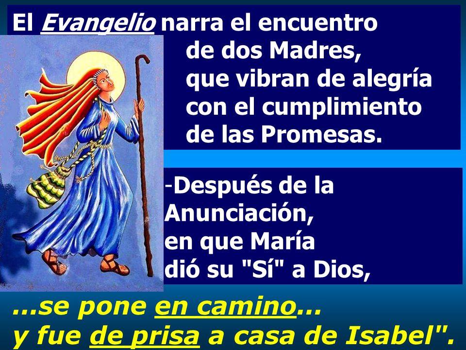 -Después de la Anunciación, en que María dió su Sí a Dios,...se pone en camino...