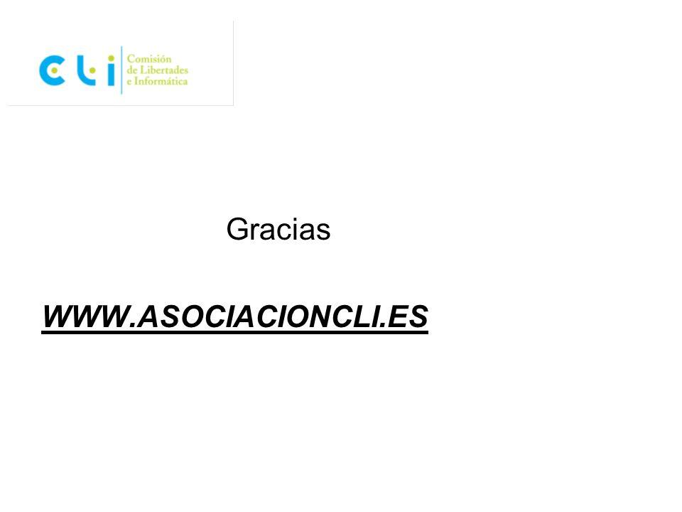 Gracias WWW.ASOCIACIONCLI.ES