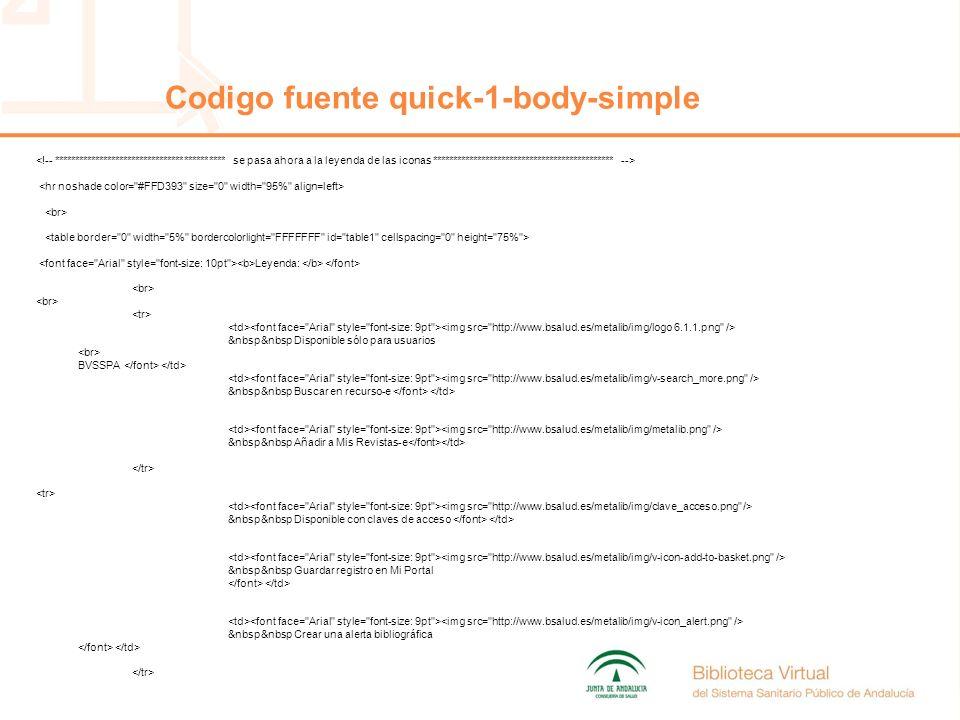 Leyenda: &nbsp&nbsp Disponible sólo para usuarios BVSSPA &nbsp&nbsp Buscar en recurso-e &nbsp&nbsp Añadir a Mis Revistas-e &nbsp&nbsp Disponible con claves de acceso &nbsp&nbsp Guardar registro en Mi Portal &nbsp&nbsp Crear una alerta bibliográfica Codigo fuente quick-1-body-simple