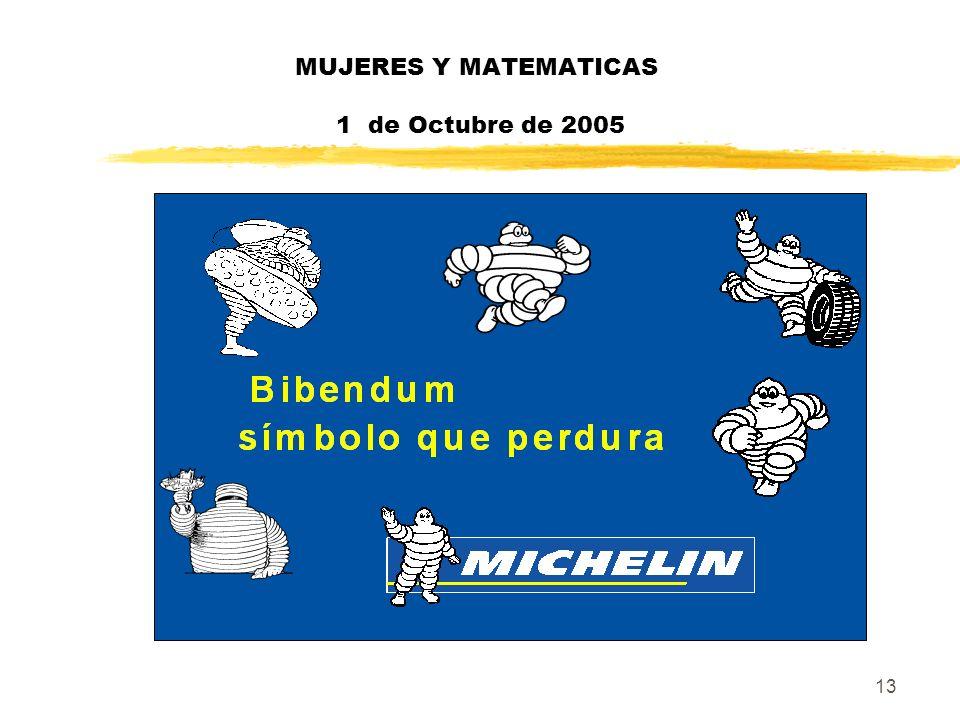 13 MUJERES Y MATEMATICAS 1 de Octubre de 2005