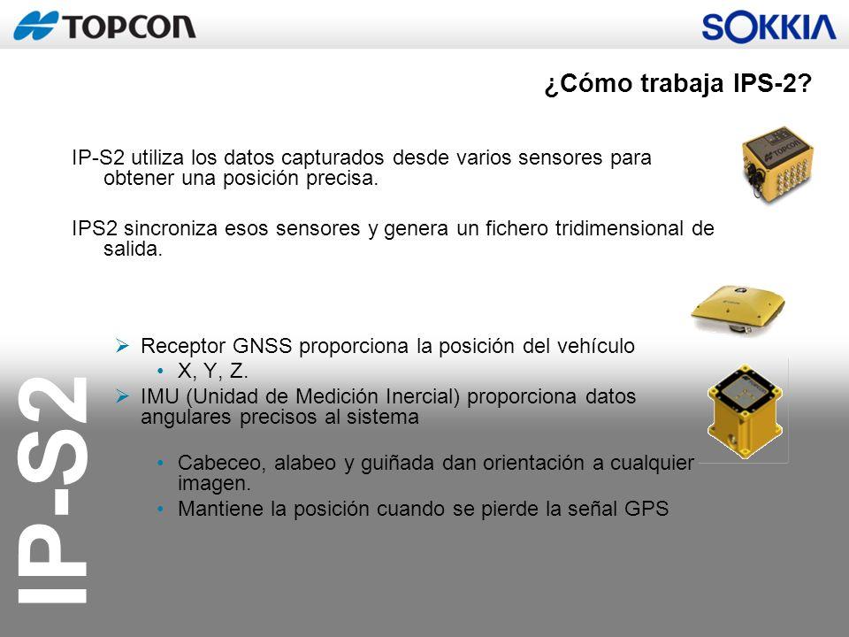 IP-S2 IP-S2 utiliza los datos capturados desde varios sensores para obtener una posición precisa. IPS2 sincroniza esos sensores y genera un fichero tr