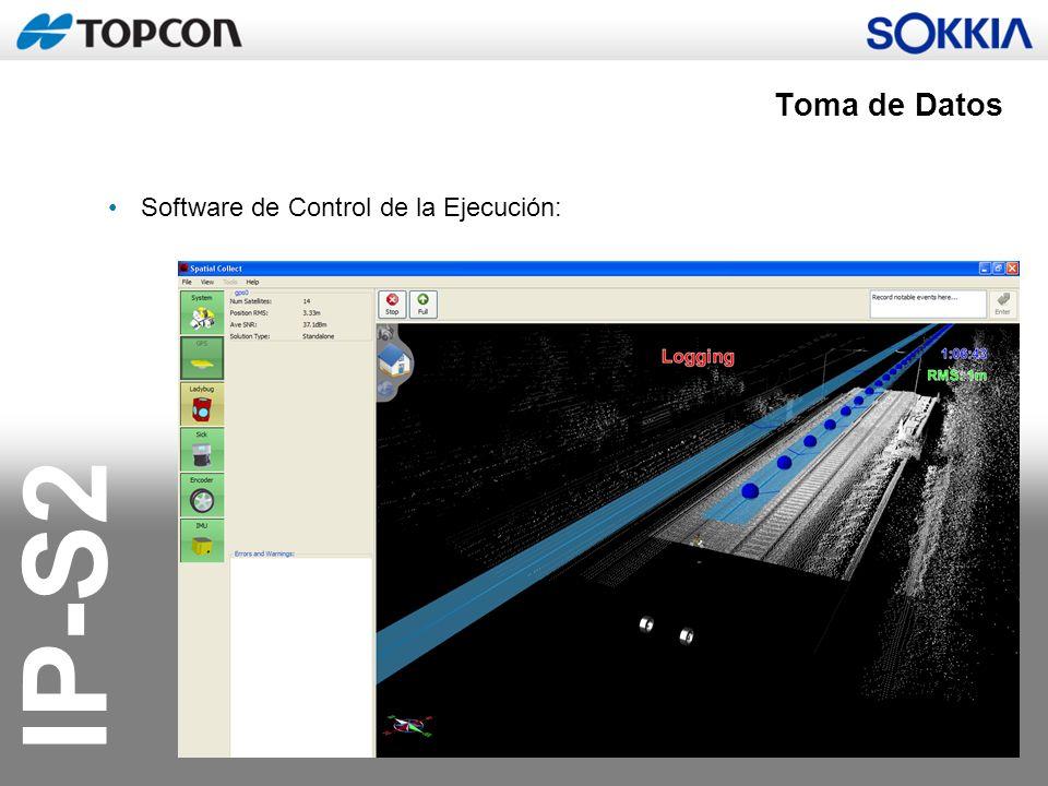 IP-S2 Software de Control de la Ejecución: Toma de Datos