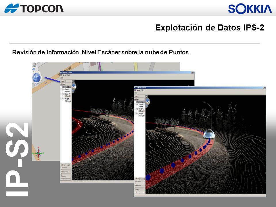 IP-S2 Revisión de Información. Nivel Escáner sobre la nube de Puntos. Explotación de Datos IPS-2