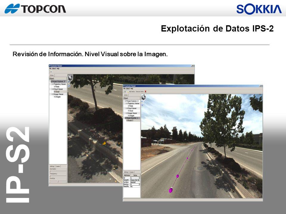IP-S2 Revisión de Información. Nivel Visual sobre la Imagen. Explotación de Datos IPS-2