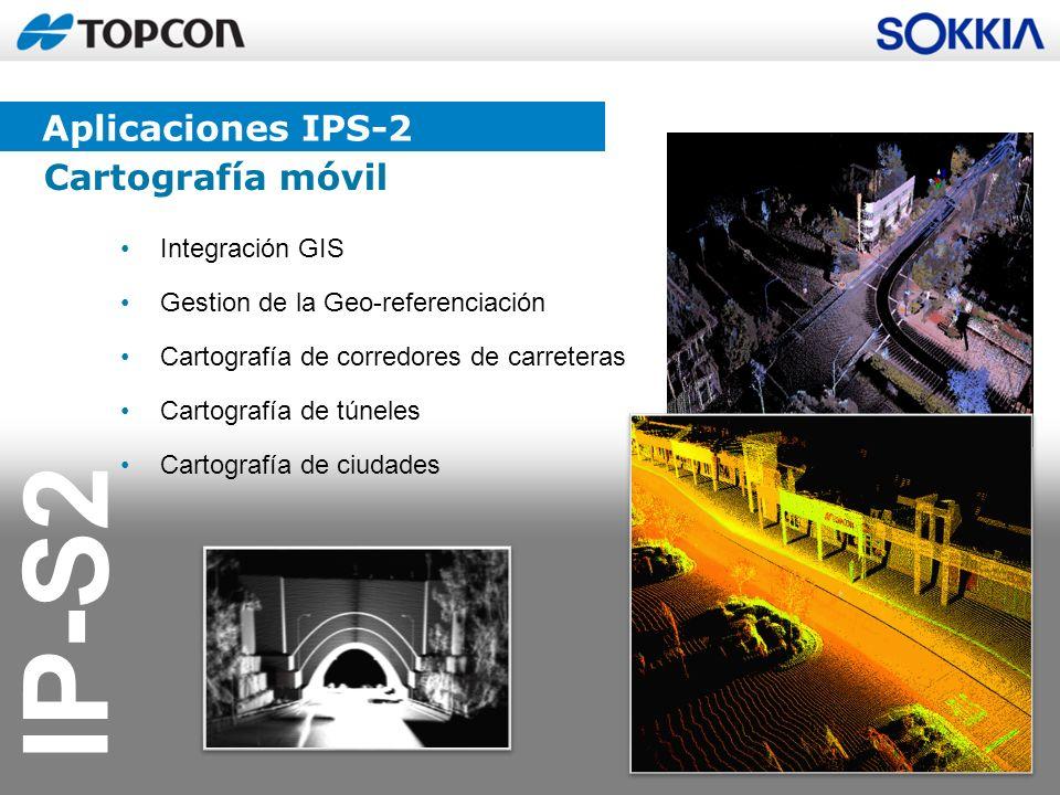 IP-S2 Integración GIS Gestion de la Geo-referenciación Cartografía de corredores de carreteras Cartografía de túneles Cartografía de ciudades Cartogra