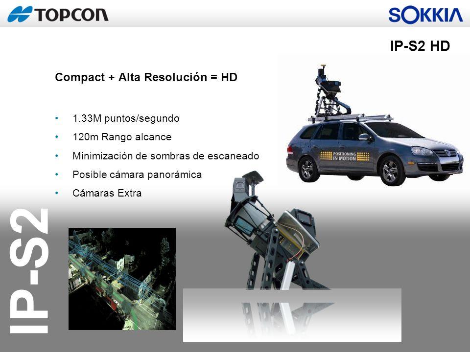 IP-S2 IP-S2 HD Compact + Alta Resolución = HD 1.33M puntos/segundo 120m Rango alcance Minimización de sombras de escaneado Posible cámara panorámica C