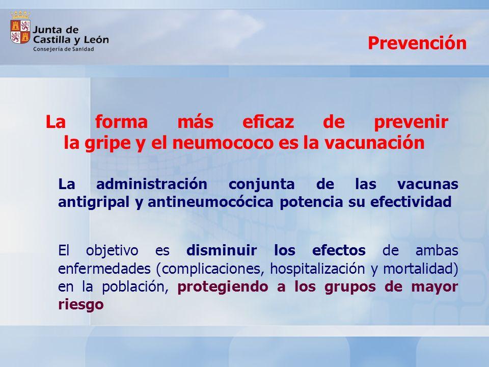 Fechas de vacunación La Junta de Castilla y León, a través de la Consejería de Sanidad, desarrollará la Campaña 2012 de vacunación contra la gripe estacional y el neumococo, entre el 22 de OCTUBRE y el 30 de NOVIEMBRE de 2012 Sanidad ha planificado esta acción preventiva de Salud Pública retrasando su inicio a la segunda mitad del mes de octubre, ya que las nuevas fechas se ajustan mejor a las ondas epidémicas registradas en los últimos ejercicios, lo que facilita una mayor eficacia inmunológica de la vacunación