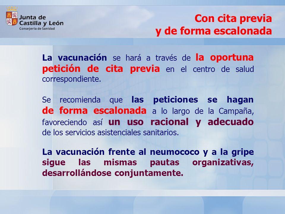 En los centros de atención a personas mayores y de asistidos, la vacunación se hará por medio de la red de Atención Primaria de SACYL, en colaboración con el personal sanitario propio de cada institución.