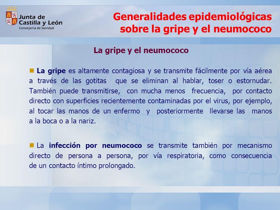 Generalidades epidemiológicas sobre la gripe y el neumococo La gripe como problema de salud La gripe es un importante problema de Salud Pública por su incidencia, por sus complicaciones y por la mortalidad que puede provocar directa o indirectamente.