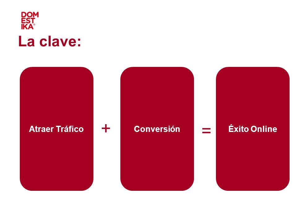 ++ + = Éxito OnlineAtraer TráficoConversión La clave:
