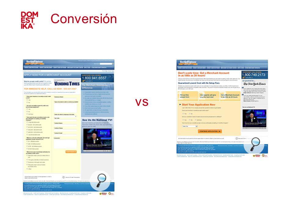 Conversión vs