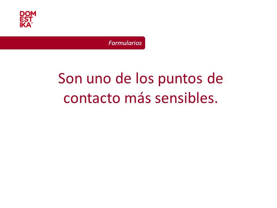 Diseño gráfico para la web Formularios Son uno de los puntos de contacto más sensibles.