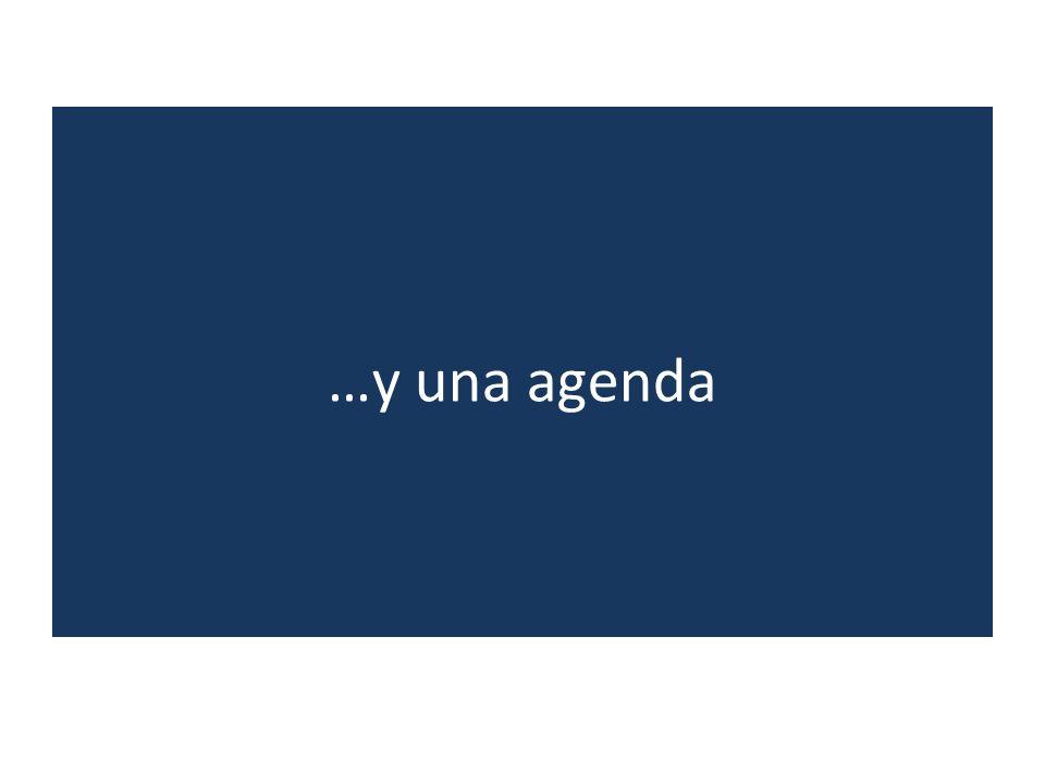 …y una agenda