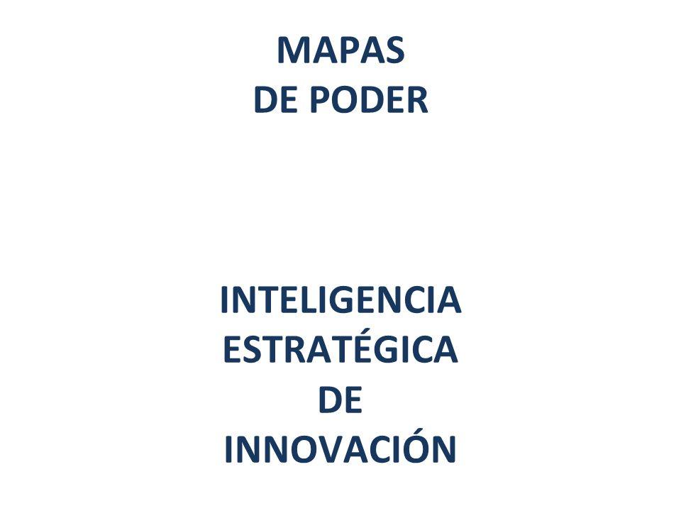 MAPAS DE PODER INTELIGENCIA ESTRATÉGICA DE INNOVACIÓN