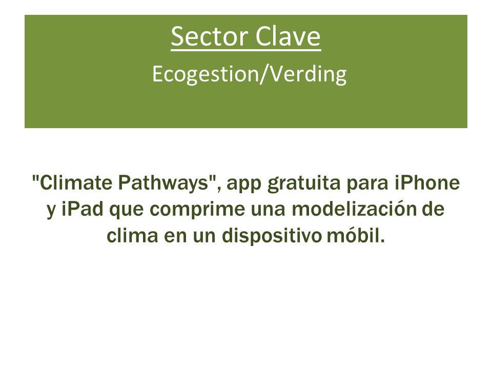 Sector Clave Ecogestion/Verding Climate Pathways , app gratuita para iPhone y iPad que comprime una modelización de clima en un dispositivo móbil.