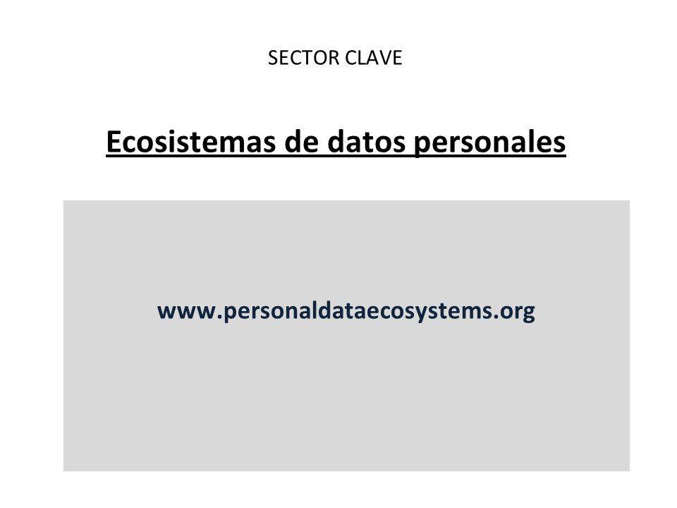SECTOR CLAVE Ecosistemas de datos personales www.personaldataecosystems.org