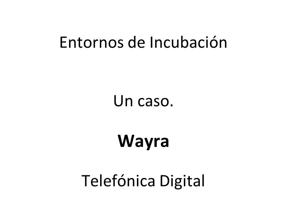 Entornos de Incubación Un caso. Wayra Telefónica Digital