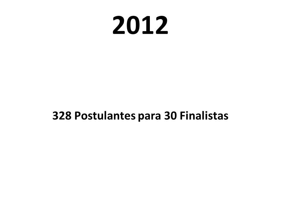 2012 328 Postulantes para 30 Finalistas