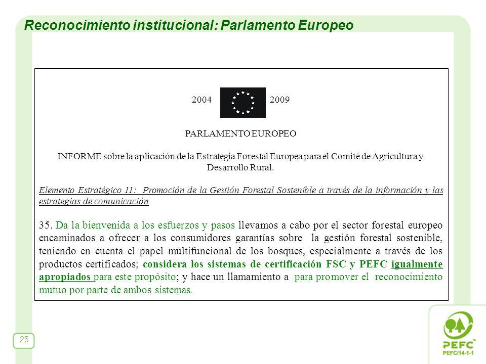 2004 2009 PARLAMENTO EUROPEO INFORME sobre la aplicación de la Estrategia Forestal Europea para el Comité de Agricultura y Desarrollo Rural. Elemento