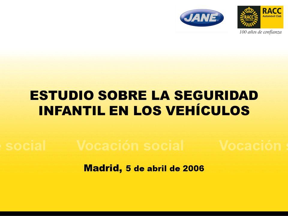 ESTUDIO SOBRE LA SEGURIDAD INFANTIL EN LOS VEHÍCULOS Madrid, 5 de abril de 2006
