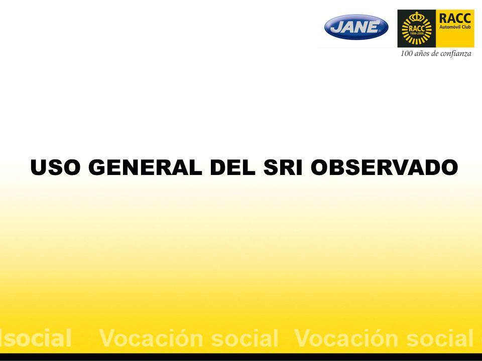 USO GENERAL DEL SRI OBSERVADO