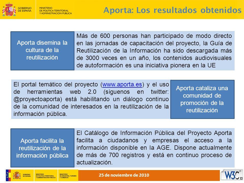 Más de 600 personas han participado de modo directo en las jornadas de capacitación del proyecto, la Guía de Reutilización de la Información ha sido d