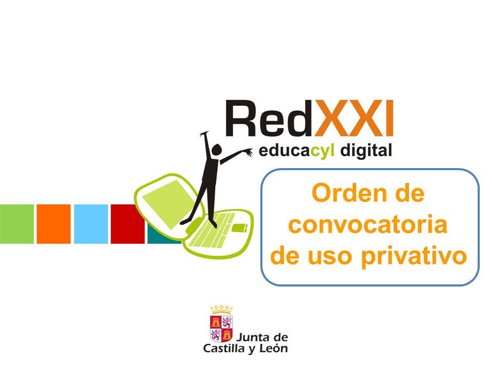 Objeto Realizar convocatoria para la adjudicación de autorizaciones de uso privativo de ordenadores miniportátiles vinculados a la estrategia «Red de Escuelas Digitales de Castilla y León Siglo XXI» (RedXXI), para el curso académico 2010/2011.