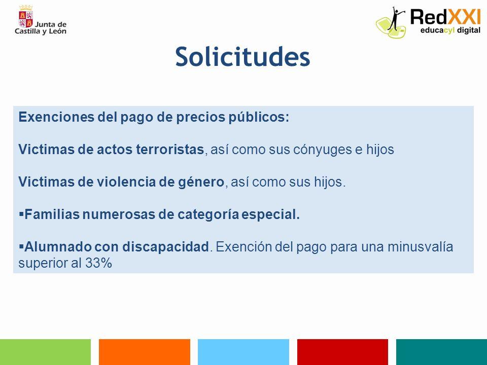 Solicitudes Bonificaciones del 50% del precio público: Familias numerosas de categoría general.