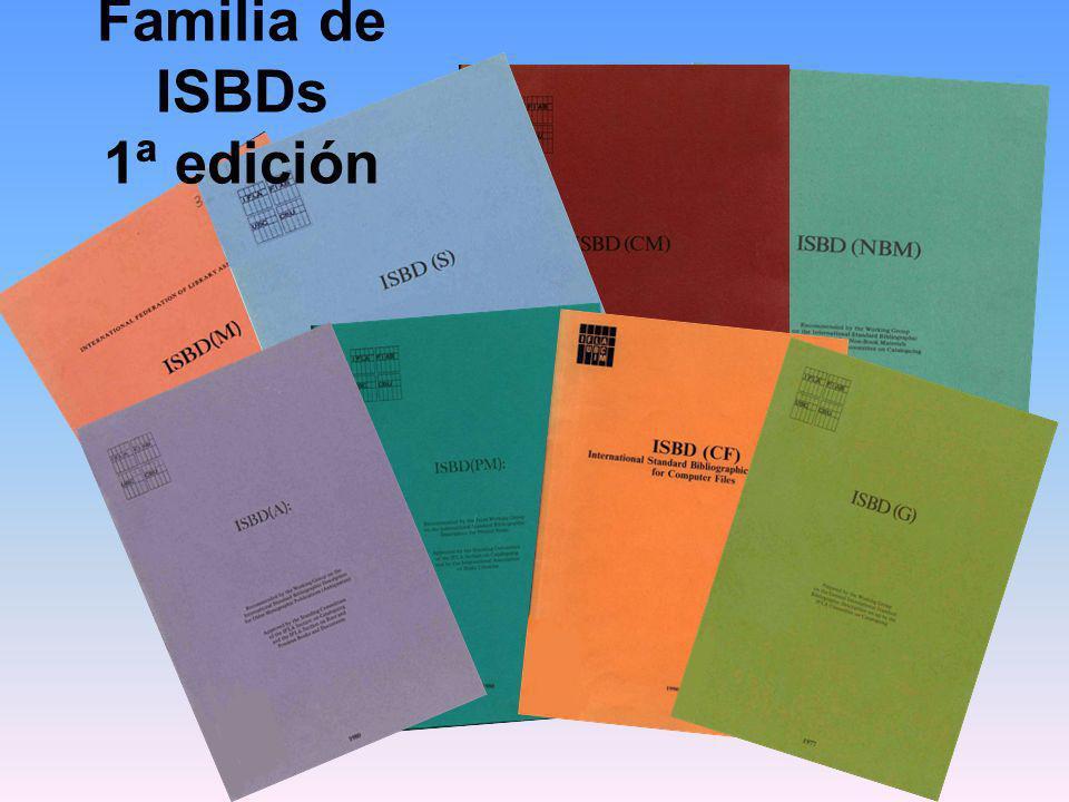 REVISIÓN MUNDIAL Procedimiento de creación o revisión de las ISBDs BORRADOR REVISIÓN FINAL VOTACIÓN PUBLICACIÓN Y TALLER