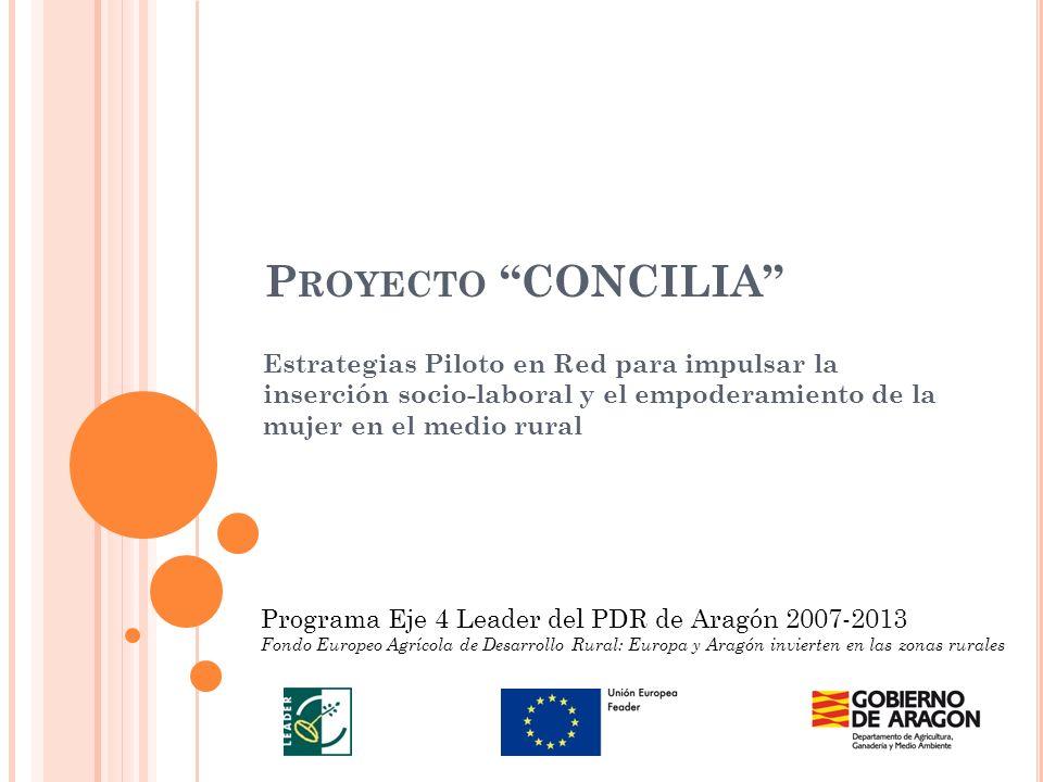 P ROYECTO CONCILIA Estrategias Piloto en Red para impulsar la inserción socio-laboral y el empoderamiento de la mujer en el medio rural Programa Eje 4