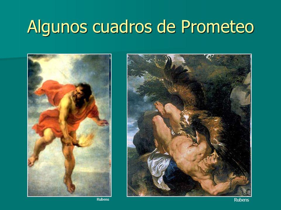 Algunos cuadros de Prometeo Rubens