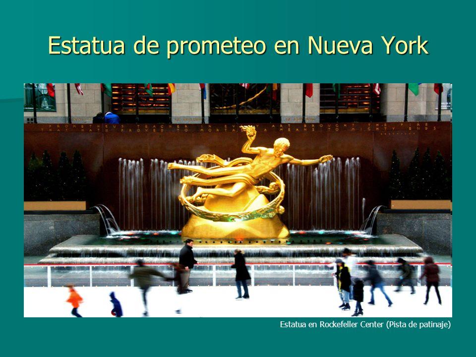 Estatua de prometeo en Nueva York Estatua en Rockefeller Center (Pista de patinaje)