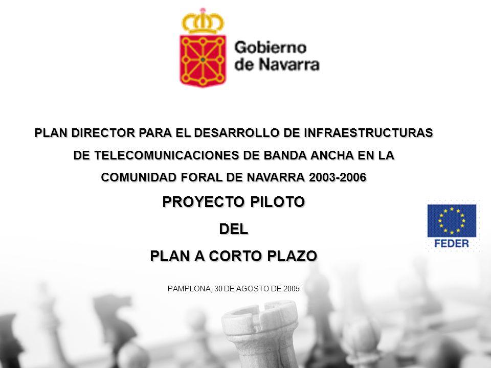 PLAN DIRECTOR PARA EL DESARROLLO DE INFRAESTRUCTURAS DE TELECOMUNICACIONES DE BANDA ANCHA EN LA COMUNIDAD FORAL DE NAVARRA 2003-2006 PROYECTO PILOTO D