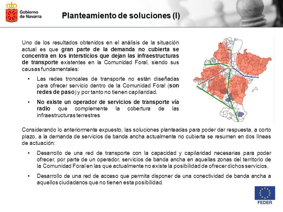 Planteamiento de soluciones (I) Uno de los resultados obtenidos en el análisis de la situación actual es que gran parte de la demanda no cubierta se c