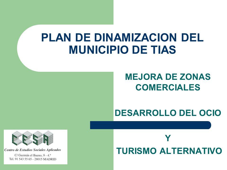 PLAN DE DINAMIZACION DEL MUNICIPIO DE TIAS MEJORA DE ZONAS COMERCIALES DESARROLLO DEL OCIO Y TURISMO ALTERNATIVO