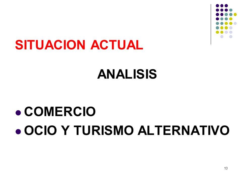 13 SITUACION ACTUAL ANALISIS COMERCIO OCIO Y TURISMO ALTERNATIVO