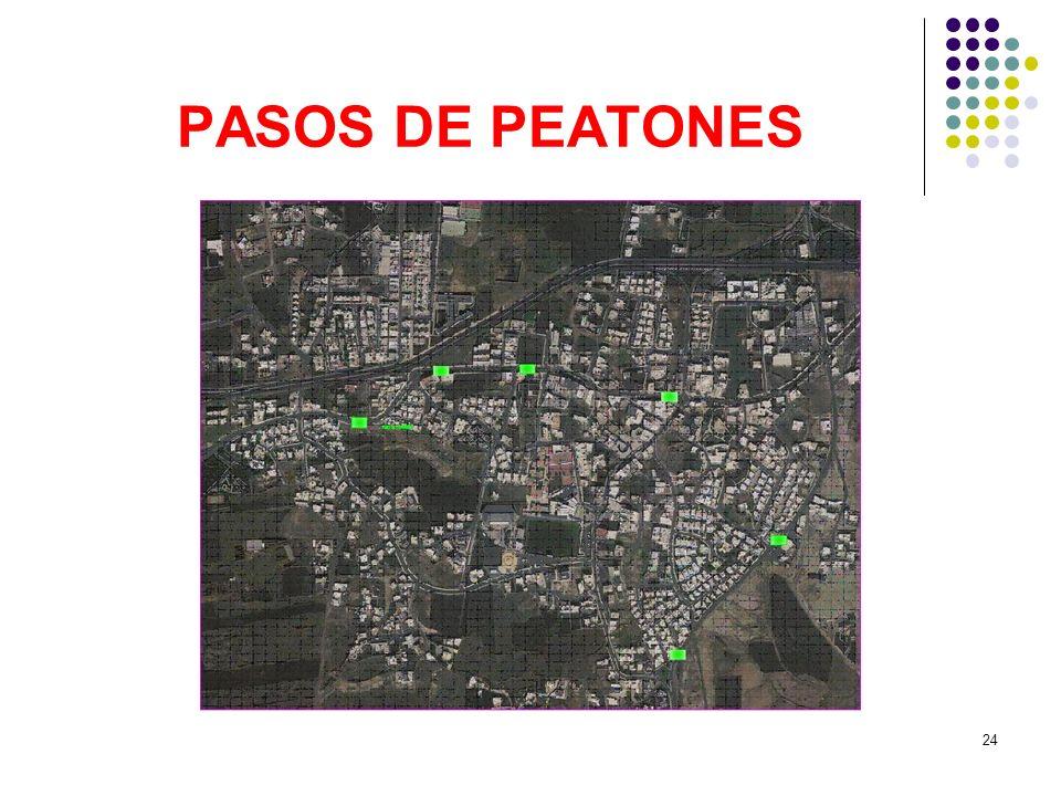 24 PASOS DE PEATONES