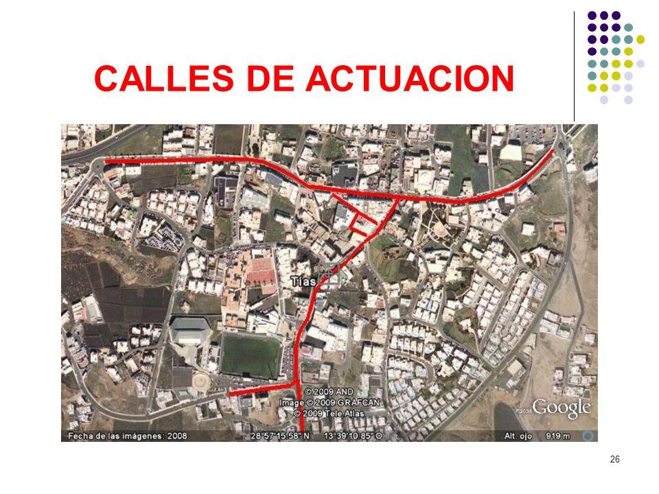 26 CALLES DE ACTUACION