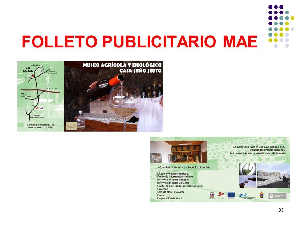 33 FOLLETO PUBLICITARIO MAE