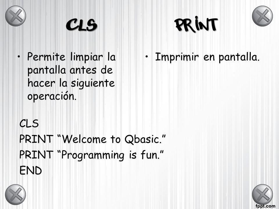 ACTIVIDAD 1BAS 1.Inicia un nuevo programa de Q-BASIC.