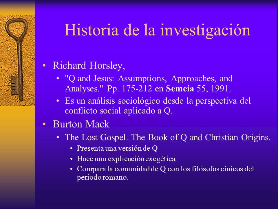 Historia de la investigación Richard Horsley,