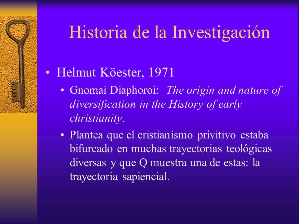 Historia de la investigación Gerd Theissen, 1973 Los primeros seguidores de Jesús: una sociología del cristianismo primitivo.
