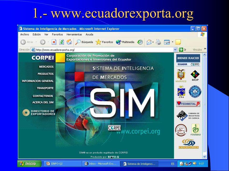 1.- www.ecuadorexporta.org