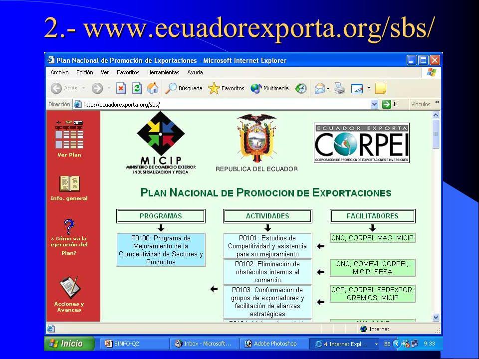 2.- www.ecuadorexporta.org/sbs/