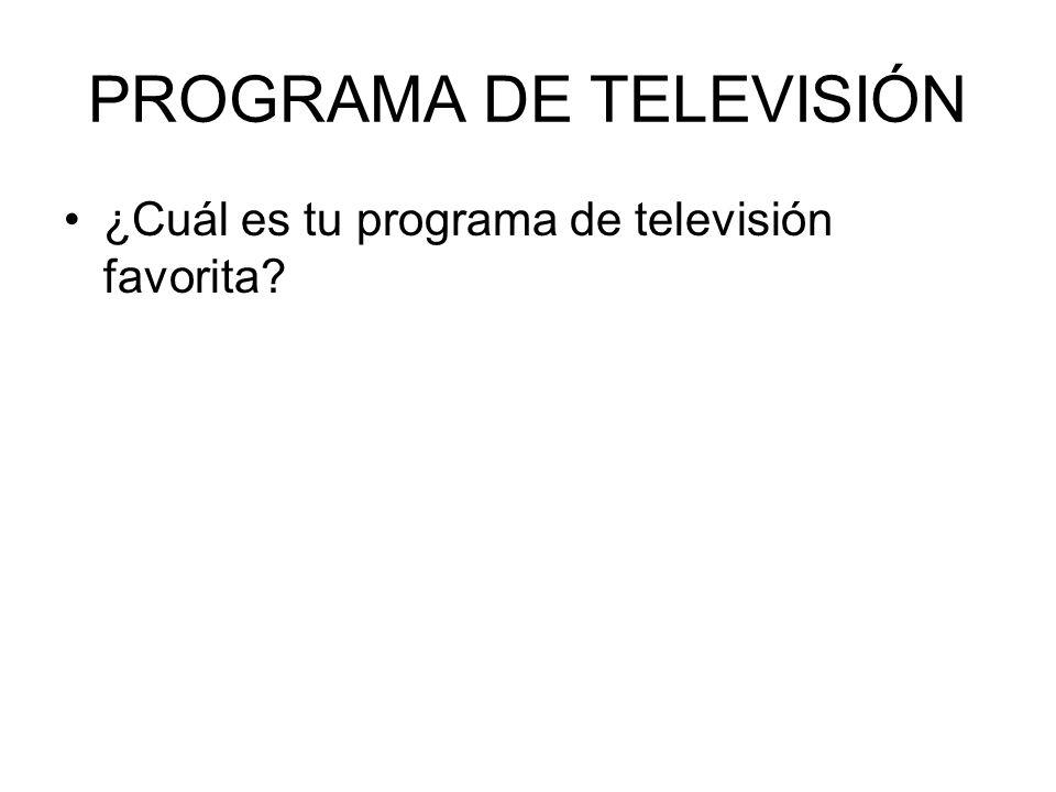 PROGRAMA DE TELEVISIÓN ¿Cuál es tu programa de televisión favorita?