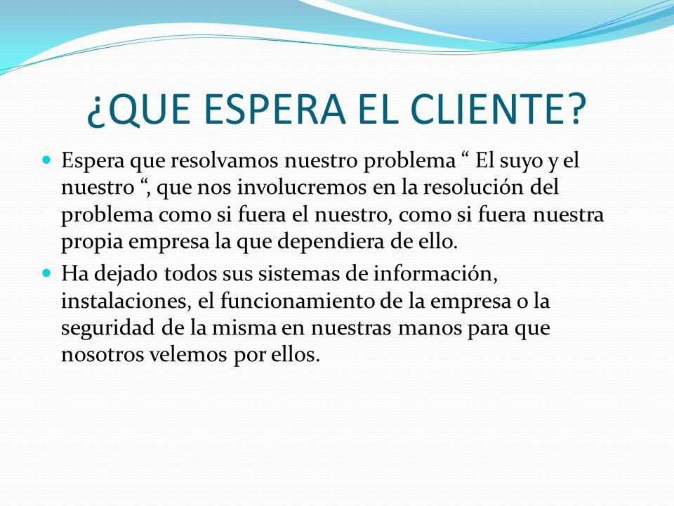 Cliente externo Sus clientes volverán a establecer relaciones comerciales con Usted mañana sólo si hoy confían, tanto ellos como sus amigos, en Usted.