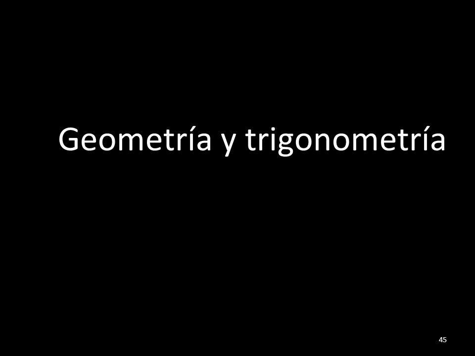 45 Geometría y trigonometría