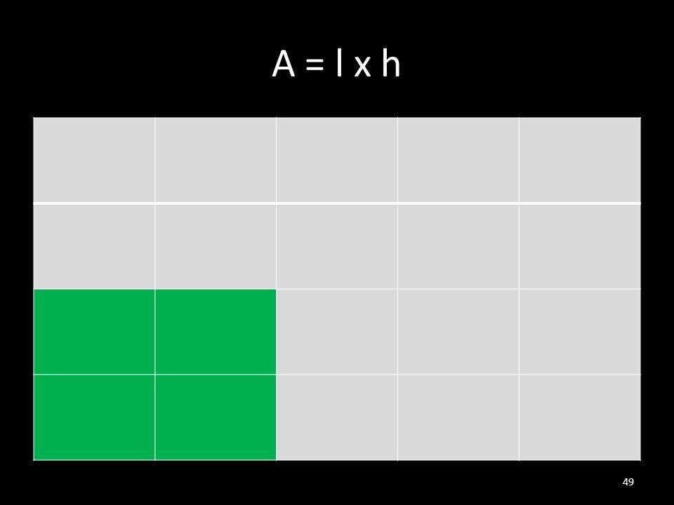 A = l x h 49