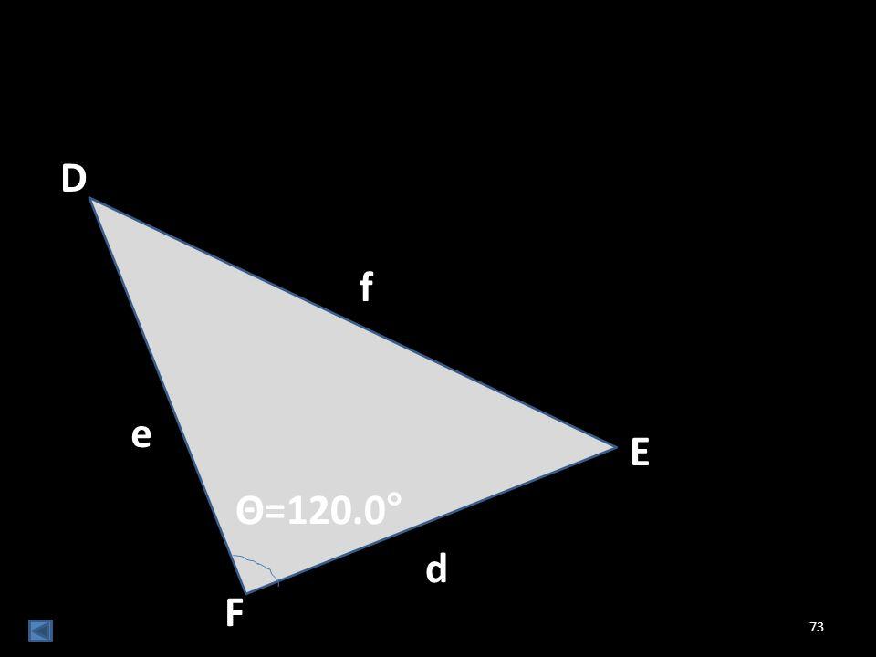 73 Θ=120.0° d f E D e F
